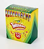 Crayola Mini Twistables Crayons, Amazon Exclusive, 50 Count, Great for Coloring Books, Gift