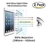 i-Deal 2Pcs iPad 9.7 Tempered Glass Screen Protector, iPad Air iPad Air 2 iPad Pro 9.7 Screen Protector Blue Light Filter,Anti Blue Lights Screen Protecter, Bubble-Free Installation, Blocks Excessive