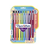 Paper Mate Flair Felt Tip Pens, Medium Point (0.7mm), Assorted Colors, 16 Count