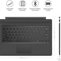 MoKo Microsoft Surface Pro 4 / Pro 3 / Surface Pro 2017 Type Cove 22