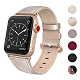 SWEES Leather Band Compatible for Apple Watch 38mm 40mm, Genuine Leather Elegant Dressy Strap Compatible iWatch Apple Watch Series 4 Series 3 Series 2 Series 1 Sport Edition Women, Rose Gold