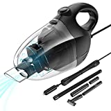 Nulaxy Car Vacuum Cleaner, High Power Strong Suction Vacuum Cleaner, Portable Lightweight Wet Dry Vacuum with 16.4 Ft Cord and Nozzles Set for Pet Hair Car Cleaning