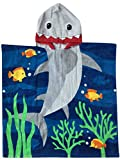 Athaelay Kids Beach Towels for 1 to 5 Years Old, Cotton, Use for Baby Toddler Boys Bath Pool Swim Poncho Cover-ups Cape, Extra Large 24x48, Ultra Breathable and Soft for All Seasons, Shark Theme