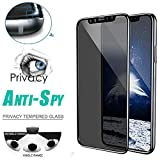 SHL Anti-Spy Privacy Tempered Glass Protector Screen Full Coverage Film Skin for iPhone XS Max 6.5inch[Ship from USA Directly]