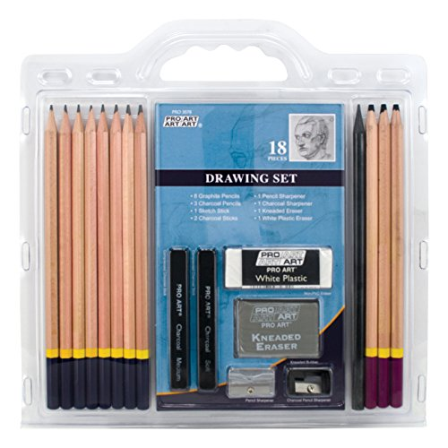 Pro Art 18-Piece Sketch/Draw Pencil Set