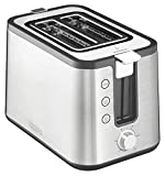 KRUPS 7211002013 KH442D Control Line 2-Slot Toaster with Integrated Bun Warmer and Brushed Stainless Steel Housing, 2-Slice, Silver