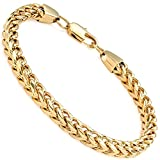 FIBO STEEL 6mm Wide Curb Chain Bracelet for Men Women Stainless Steel High Polished,8.5-9.1'