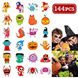 Unomor 144 Assorted Halloween Temporary Tattoo for Kids, 24 Cute Designs Stick on Children Tattoos
