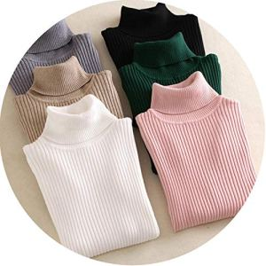 Warm Women Sweater Autumn Winter Knitted Pull High Elasticity Soft Pullovers Sweater