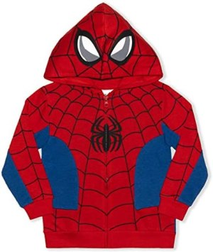 Marvel Boy's Spider-Man or Captain America Fashion Hoodie