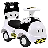 Costzon Kids Ride On Push Car, 3 in 1 Sliding Car Pushing Cart, Toddlers Ride On Toy w/ Working Horn & Music (Black&White)