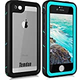 Temdan iPhone SE/5S/5 Waterproof Case with Kickstand Shockproof Waterproof Case for iPhone SE/5S/5(4inch) (Teal)