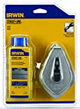 IRWIN Tools STRAIT-LINE 64499 Aluminum Refillable Chalk Line Reel with 4-Ounce Chalk, 100-foot, Blue...