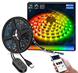 DreamColor LED Strip Lights with APP, Minger 6.56FT/2M USB Light Strip Built-in Digital IC, 5050 RGB Strip Lights, Color Changing with Music Waterproof Led Strip Lights Kit, LED TV Backlight Strip
