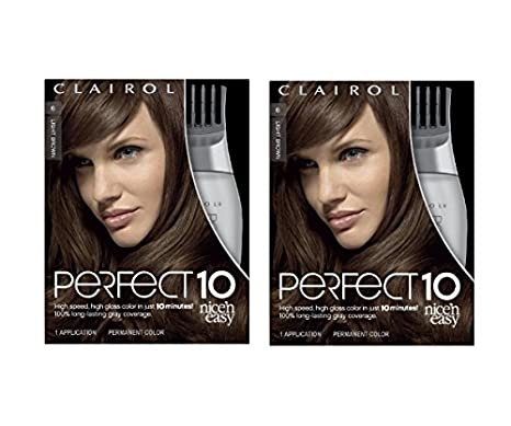 Clairol Perfect 10 Hair Color 006 Light Brown Chocolate Shake