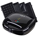 ZZ S6141A-B Breakfast Sandwich Maker with Sets of Detachable Non-stick Plate