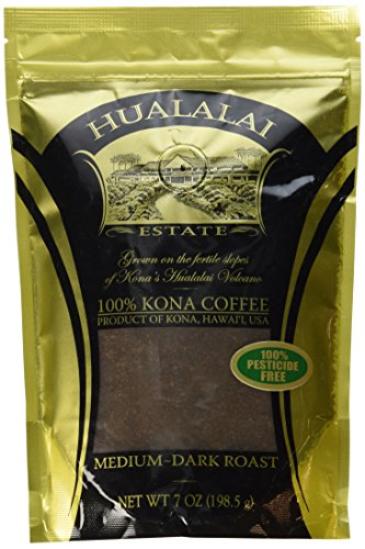 Hualalai Estate- 100% PREMIUM Kona Coffee - Medium-Dark Roast 7oz (GROUND)