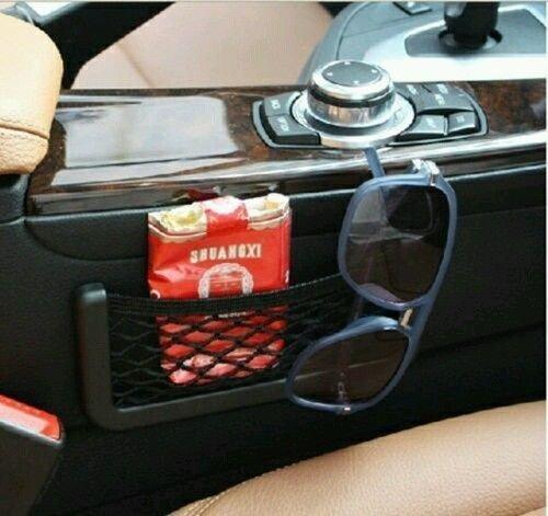 51 4T5PIKRL Car Net Holder Phone Holder Pocket Organizer String Bag (Black) for Honda City 2020