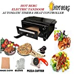 HOT BERG Automatic Timer & Heat Controller Electric Tandoor with Full Accessories Medium Size 14 Inches Comboo Electric Tandoor (Black)