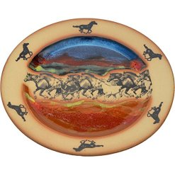 Wild Horses Ceramic Plate