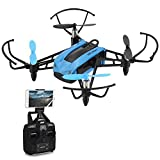 FPV Quadcopter Drone with 720P HD WiFi Camera and VR, Mini Racing Drone 2.4GHz RC Quadcopter with Height Hold, 30mph High Speed Mode, Headless Mode with 6-Axis Gyro by FidgetKit