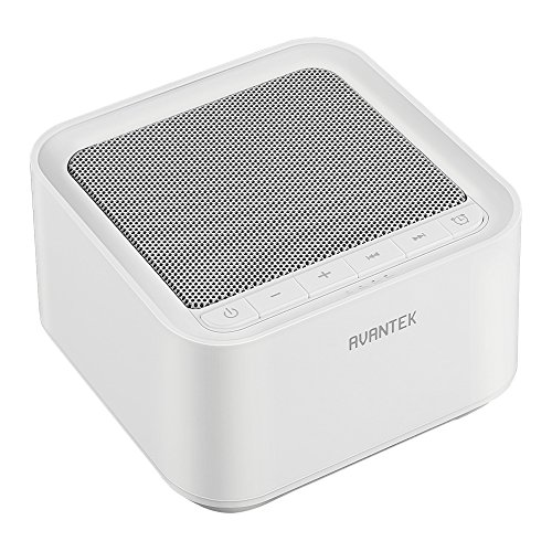 AVANTEK White Noise Sound Machine, 20 Non-Looping Soothing Sounds for Better Sleep with High Quality Speaker & Memory Function, 30 Levels of Volume and 7 Timer Settings