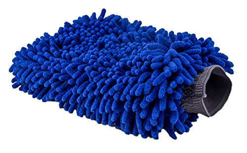 Ultimate Car Wash Mitt - Extra Large Size - Premium Chenille Microfiber Wash Mitt - Wash Glove - Lint Free - Scratch Free