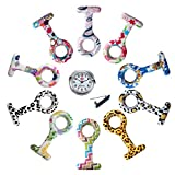 Product review of Lancardo Silicon Nurses Lapel Pin-on Brooch Fob Watch (12 Designs Pattern Print)