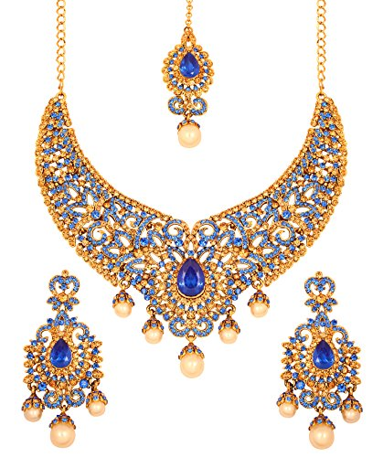Touchstone-Indian-Bollywood-Bridal-Jewelry-Necklace-in-Antique-Gold-Tone-for-Women