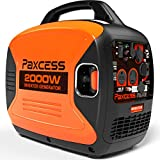 PAXCESS 2000 Watts Portable Inverter Super Quiet Gas Powered RV Generator with Eco-Mode, CARB Complaint, Parallel Ready 120V 30A/20A AC Outlet/USB Ports/12V DC Output, P2000i