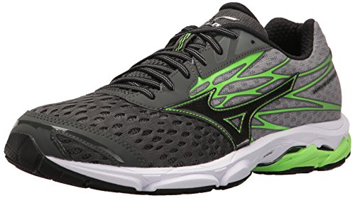 Mizuno Men's Wave Catalyst 2 Running Shoe, Charcoal/Green Flash, 11 D US