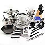 Gibson 98141.83RM Home Essential Total Kitchen 83-Piece Combo Set Red Color