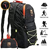 Get-Go Packable Backpack for Women and Men - Lightweight Foldable Daypack Waterproof - Rucksack Perfect for Traveling - Camping - Hiking
