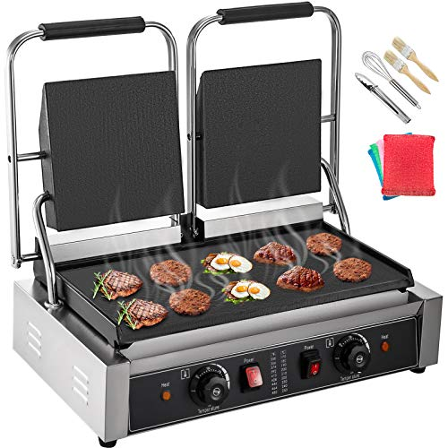 Happybuy-110V-Commercial-Sandwich-Press-Grill-3600W-Electric-Panini-Maker-Non-Stick-122F-572F-Temp-Control-Double-Flat-Plates-for-Hamburgers-Steaks-22-x12-SilverBlack