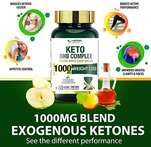 Keto Pills, 60 Capsules Fat Burner & Weight Loss BHB Supplement Formula Keto Burn Diet Pills, Women Men Appetite Suppressant Increases Energy Support, 30 Day Supply 9