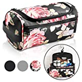 Travel Toiletry Bag – Small Portable Hanging Cosmetic Organizer for Men & Women | Makeup, Toiletries, Hygiene Accessories, Shaving Kit, Clippers & Grooming Tools | Waterproof | Bathroom, Shower, Gym