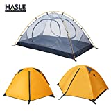 HASLE OUTFITTERS Ultralight Backpacking Tent, 2 Person 3 Season Camping Tents for Hiking Traveling Camping Orange