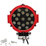 """Green-L 7"""" Led Work Light Spot Off Road Fog Driving Roof Bar Bumper for SUV Boat 4x4 Jeep Lamp (51w Round Work Light)"""