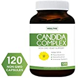 Best Candida Cleanse (Non-GMO) 120 Capsules: Extra Strength - Powerful Yeast & Intestinal Flora Support with Caprylic Acid, Oregano Oil and Probiotics - Supplement