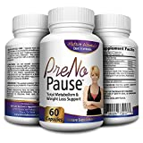 PreNoPause: Menopause Weight-Loss & Metabolism Supplement (Raspberry Ketone Extract, Green Tea Extract, Apple Cider Vinegar, Grapefruit Powder, Kelp, Acai Fruit, Caffeine Anhydrous, Resveratrol Extract, African Mango Concentrate)