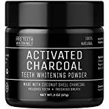 Pro Teeth Whitening Activated Charcoal Natural Teeth Whitening Powder NON Synthetic & NO Chemicals | More Effective Than Strips , Gels & Most Tooth Whitening Kits | 100% No Questions Asked Money Back Guarantee | Manufactured in the UK...