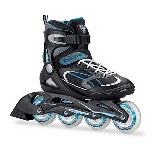 Bladerunner 0T613100821-8 by Rollerblade Advantage Pro XT Women's Adult Fitness Inline Skate, Black and Light Blue, Inline Skates