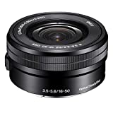 Sony SELP1650 16-50mm F/3.5-5.6 OSS Power Zoom Lens Black Bulk Packaging , International Version (No Warranty)