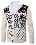 Product review for SYTX Mens Long Sleeve Deer Print Button Knit Christmas Sweater Cardigan