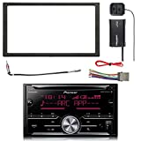 Pioneer Double DIN CD Bluetooth SiriusXM-Ready Receiver, SiriusXM Satellite Radio Tuner Kit, Double DIN Install Dash Kit, Stereo Wiring Harness, Antenna Adapter (Select 2000-2008 Vehicles)