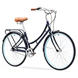 sixthreezero Ride In The Park Women's 3-Speed Touring City Bike, 26' Wheels 17' Frame, Navy Blue, 17'/One Size