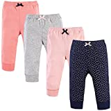 Luvable Friends Baby Tapered Ankle Pants, Gold Stars, 9-12 Months (12M)