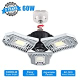 Garage Lights Ceiling Led Deformable Garage Lighting 60W Triple Glow Led Garage Light 6000Lumen Tri Bright Led Adjustable Light for Garage Basement Workshop