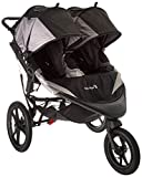 Baby Jogger Summit X3 Double Jogging Stroller - 2016   Air-Filled Rubber Tires   All-Wheel Suspension   Quick Fold Jogging Stroller, Black/Gray