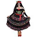 Dreamgirl Women's Lady of The Dead Plus Size, Multi, 3X
